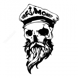 Korsan Kuru Kafa Karayip Korsanı Sticker Etiket Yapıştırma