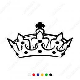 Kral Tacı Geniş ve Büyük Sticker Yapıştırma