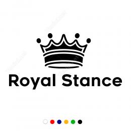 Kral Tacı Royal Stance Yazılı Sticker Çıkartma