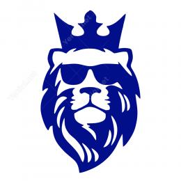 Kral Taclı Aslan Araç İçin Stiker Yapıştırma