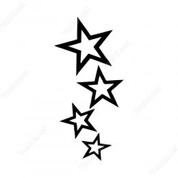 Küçükten Büyüğe Doğru Yıldız Sticker Yapıştırma