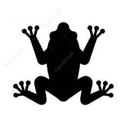 Kurbağa Sticker Etiket Yapıştırma