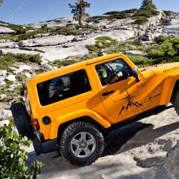Pusula ve Dağ Off Road Arabalar İçin Sticker Yapıştırma