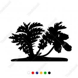 Maldiv Adalarından Palmiye Ağaçları Sticker