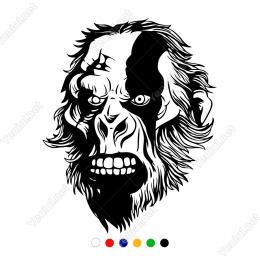 Maymun Şempaze Kafası Sticker Yapıştırma