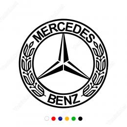 Mercedes Benz Logosu  Sticker Yapıştırma
