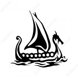 Mitolojik Yelkenli Stickerı Yapıştırması
