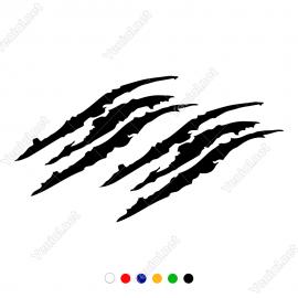 Monster Araba Far Pençe Sticker Yapıştırma