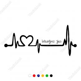 Nabız Atışı Kalp Araba Sticker, Oto Çıkartma Yapıştırma