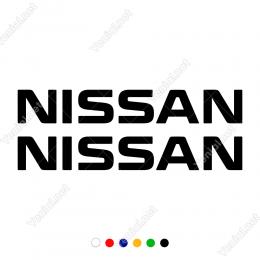 Nıssan Araba Markası Logosu 2 Adet Sticker Yapıştırma