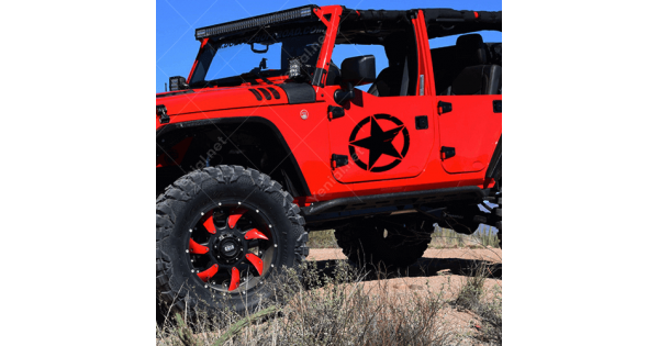 Off Road Jeep >> Askeri Yildiz Army Star Off Road Jeep Sticker Cikartma