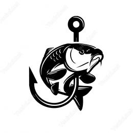 Olta İğnesi Balık Sticker Yapıştırma