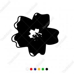 Ortasında Tohumları Bulunan Çiçek Süsleme Sticker