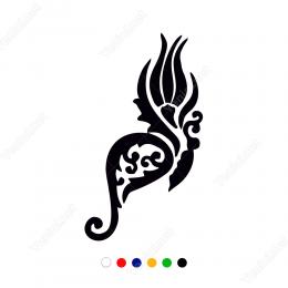 Osmanlı Motifi Karanfil Sticker Etiket