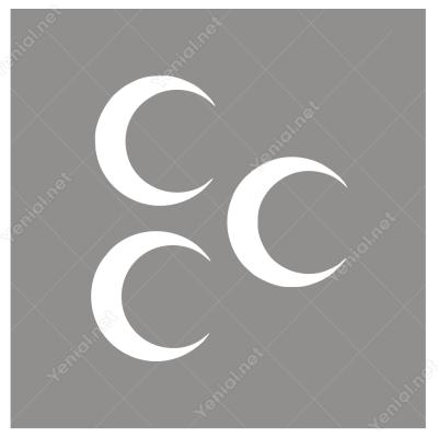 Osmanlı Üç Hilal Araç Motor Sticker Yapıştırma