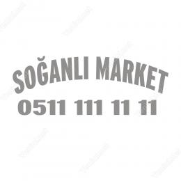 Özel Market Oval Sticker Etiket Folyo Yapıştırma