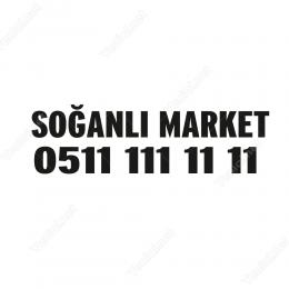 Özel Market Sticker Etiket Folyo Yapıştırma