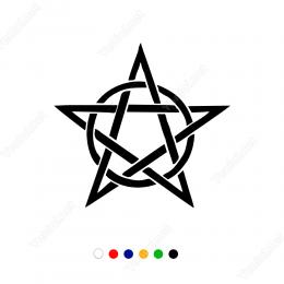 Pentagram Silindir Ve Yıldız Sticker Etiket