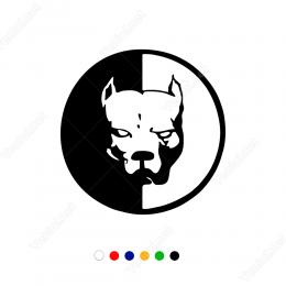 Pitbull Köpek Çift Renk Sticker Çıkartma