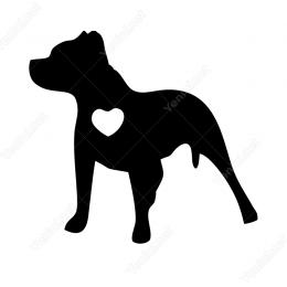 Pitbull Sticker Yan Görünüş Etiket Yapıştırma
