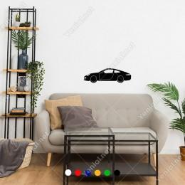 Porche 911 Klasik Spor Araba Yan Görünüm Sticker