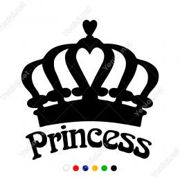 Prenses Tacı ve Prenses Yazısı Sticker Yapıştırma