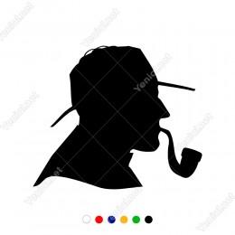 Puro İçen Tüttüren Şapkalı Adam Sticker