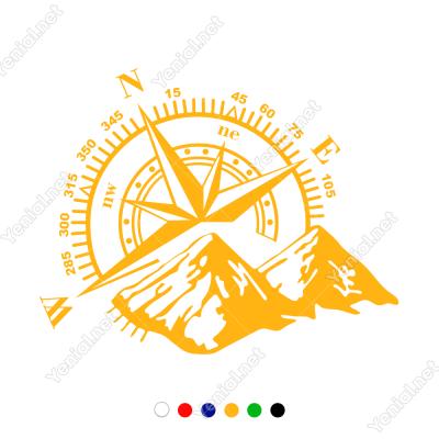 Pusula Dağ Off Road Oto Sticker, Araba Sticker Yapıştırma