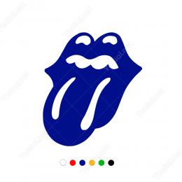Rolling Stones Grubu Motosiklet Araba Kask Çıkartma