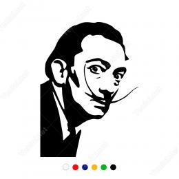 Salvador Dali Potresi Sticker Yapıştırma