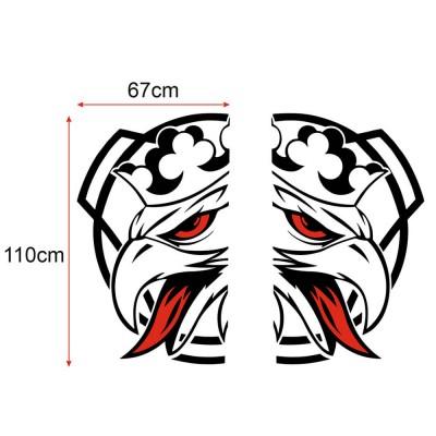 SCANIA Logosu Tır İçin Svempa Griffin Kabin Etiketi Çıkartması Sticker Sağ Sol 2 Adet Set