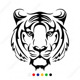 Sert Bakışlı Aslan Başı Sticker Yapıştırma
