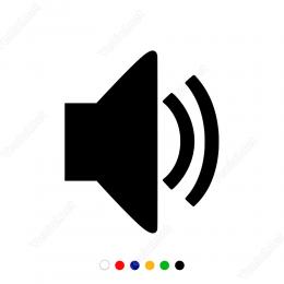 Ses Simgesi Sticker Yapıştırma