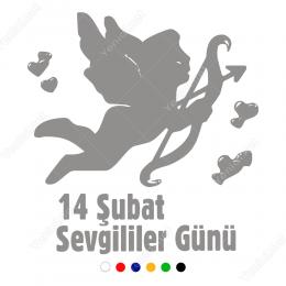 Sevgililer Günü Askılı Kalp Çeşitleri 110x100cm Sticker