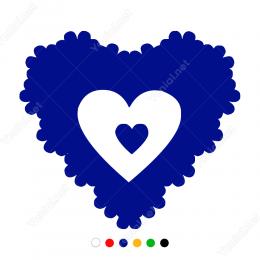 Sevgililer Günü Baloncuk Görünümlü Kalp 110x110cm Sticker