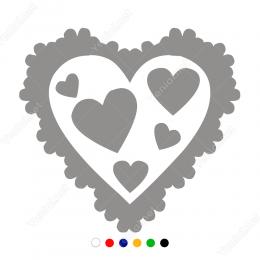 Sevgililer Günü Baloncuk İçinde Kalp 110x110cm Sticker Yapıştırma