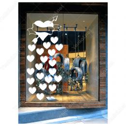 Sevgililer Günü Büyük ve Küçük Kalpler 105x105cm Sticker