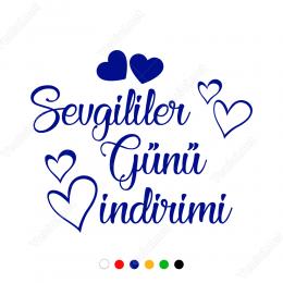Sevgililer Günü İndirimi Yazısı Sticker