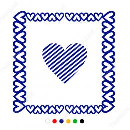 Sevgililer Günü Kalp Bordürü 110x110cm Sticker Yapıştırma