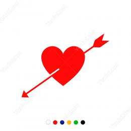 Sevgililer Günü Ok ve Kalp Sticker