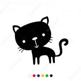 Sevimli Yavru Kedi Stickerı Yapıştırması