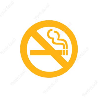 Sigara İçmek Yasaktır Logo Sticker Yapıştırma