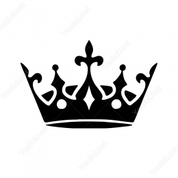 Şık Zarif Kral Tacı Sticker Etiket Yapıştırma