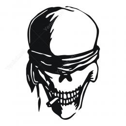 Skull Kurukafa Sticker Yapıştırma