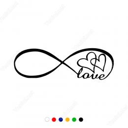 Sonsuzluk İşareti ve Kalp Sticker Yapıştırma