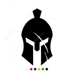 Sparta Askeri Kaskı Sticker Yapıştırma