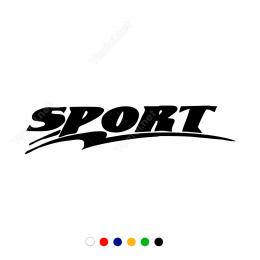Sport Yazısı Şekilli Arac Motor Sticker Çıkartma