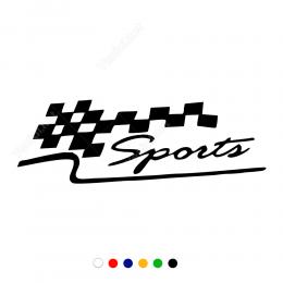Sports Yazısı Arac Motor Sticker Çıkartma