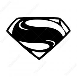 Süperman Logosu Sticker Yapıştırma