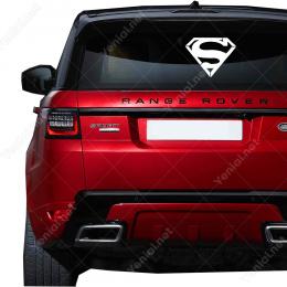 Süpermen S Harfi Motifi Sticker Yapıştırma